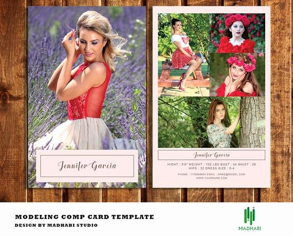 Model P Card Template Modeling P Card Fashion Model