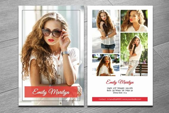 Modeling P Card Template Fashion Model P Card Ms