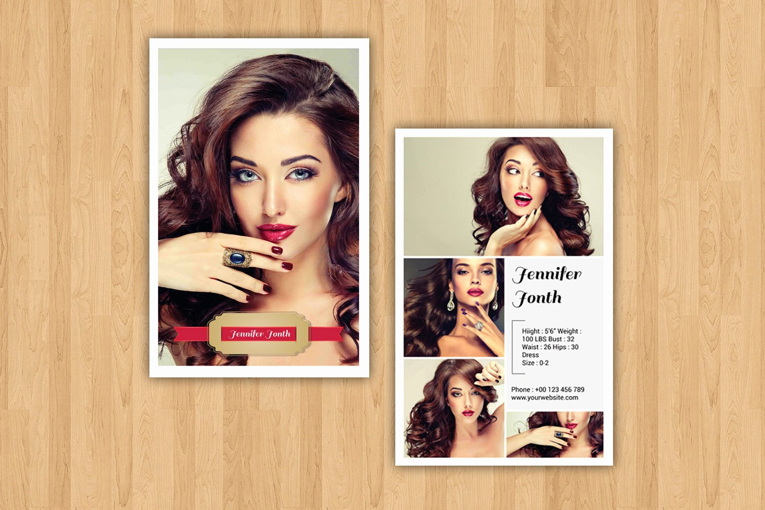Modeling P Card Template Fashion Model P Card