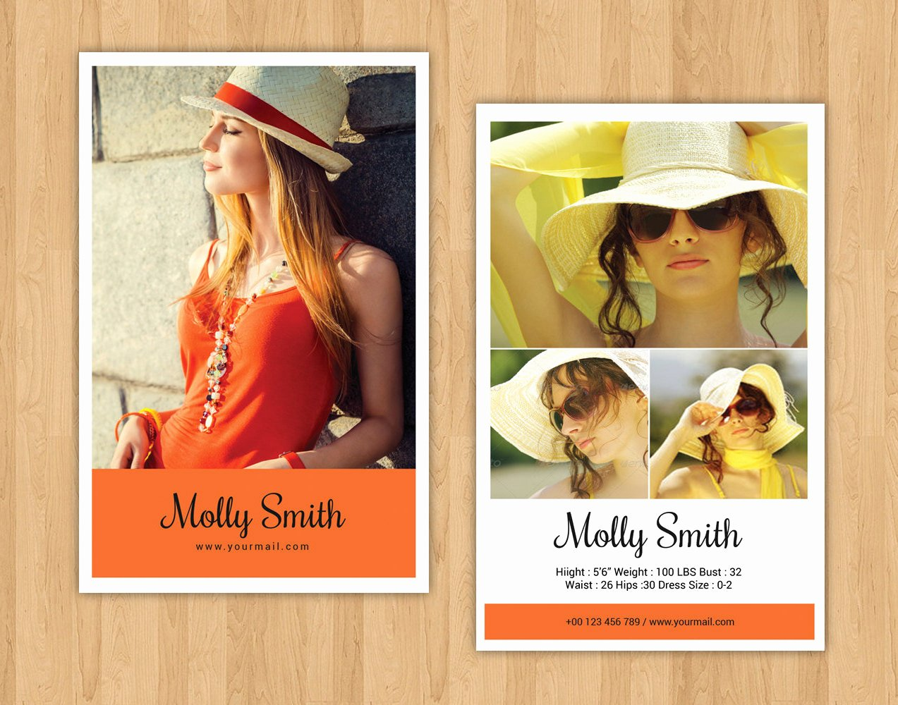 Modeling P Card Template Model P Card Ms Word