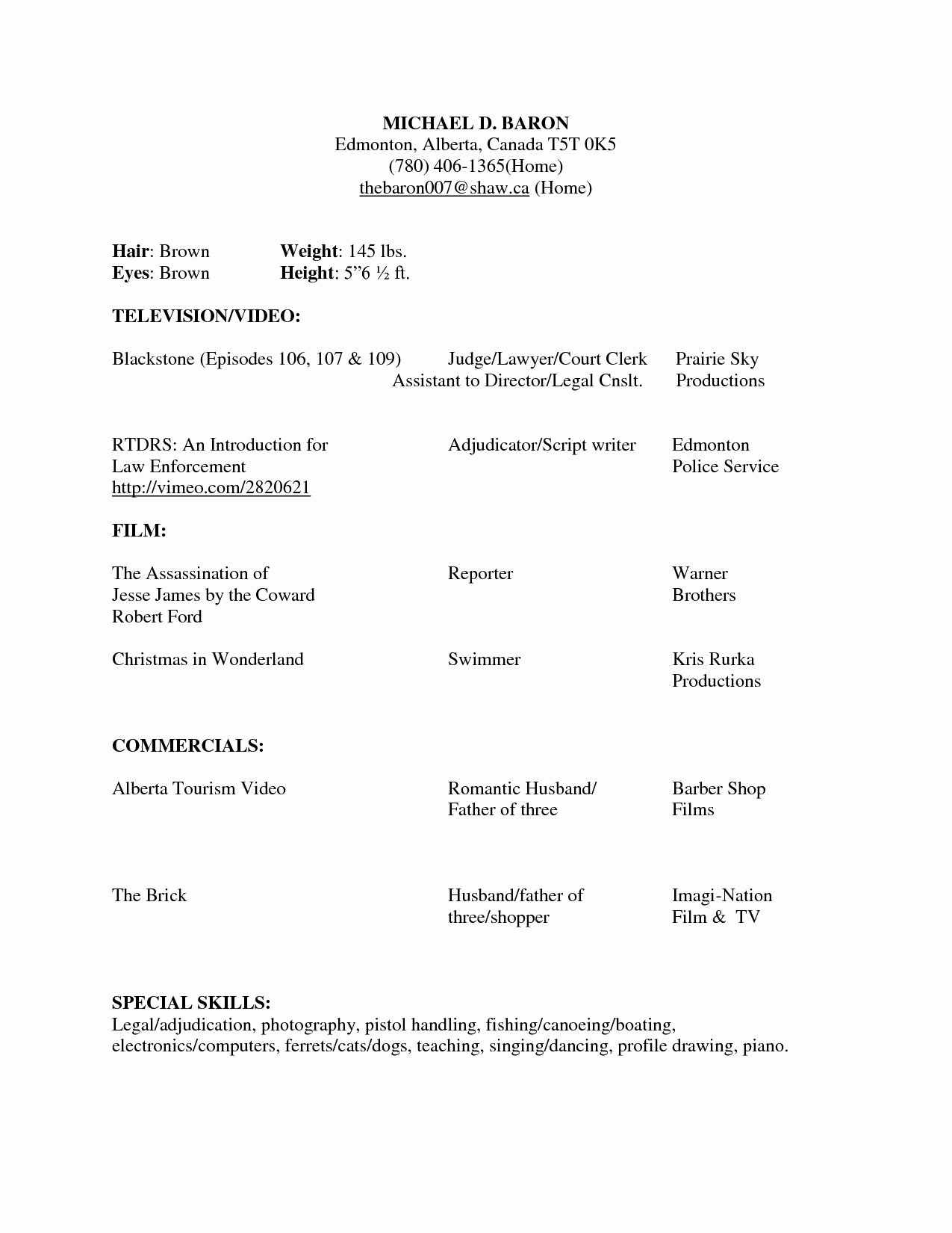 Modeling Resume No Experience Resume Ideas
