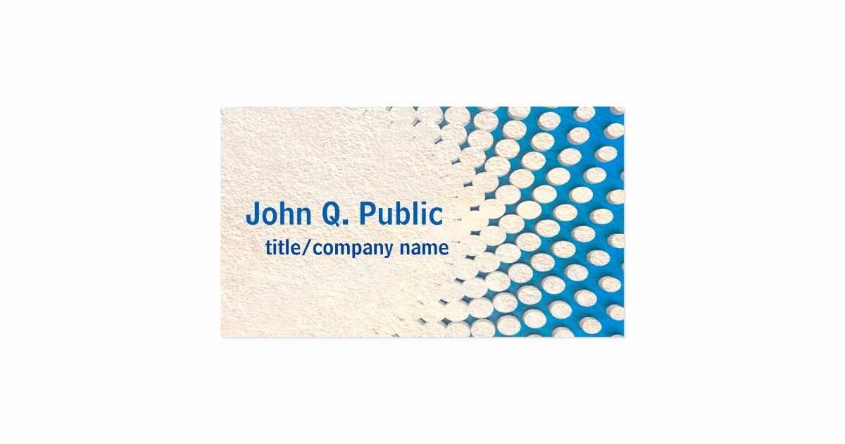 Modern Blue Business Card Template Double Sided