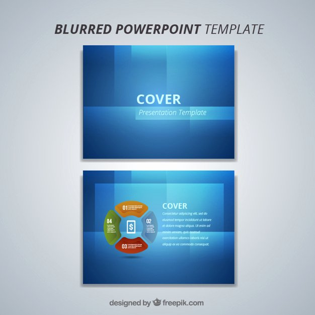 Modern Blue Powerpoint Template Vector