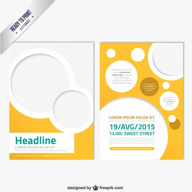 Modern Brochure Template with Circles Vector