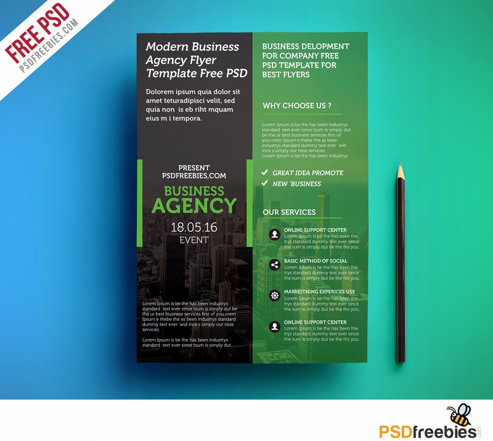Modern Business Agency Flyer Template Free Psd
