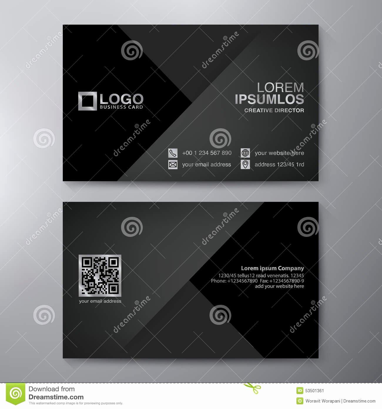 Modern Business Card Design Template Stock Vector Image