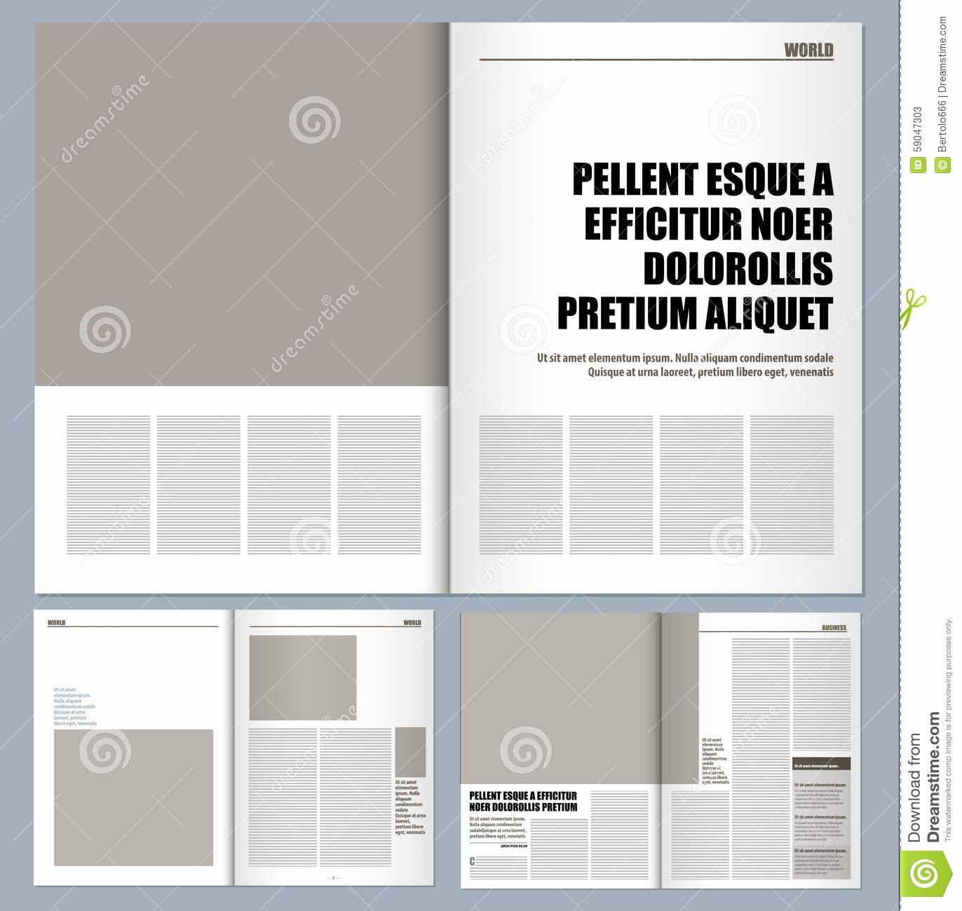 Modern Design Magazine Stock Illustration Illustration Of