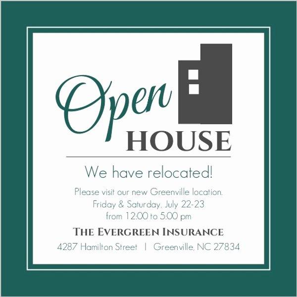 Modern Everygreen Business Open House Invitation