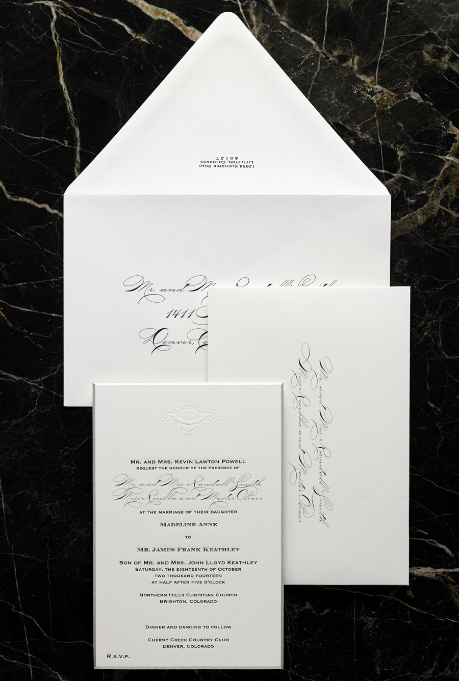 Modern formal Wedding Invitation Design Etiquette