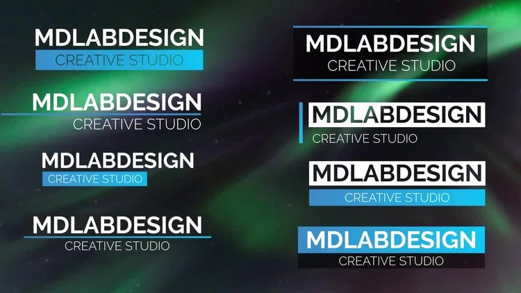 Modern Lower Thirds after Effects Templates