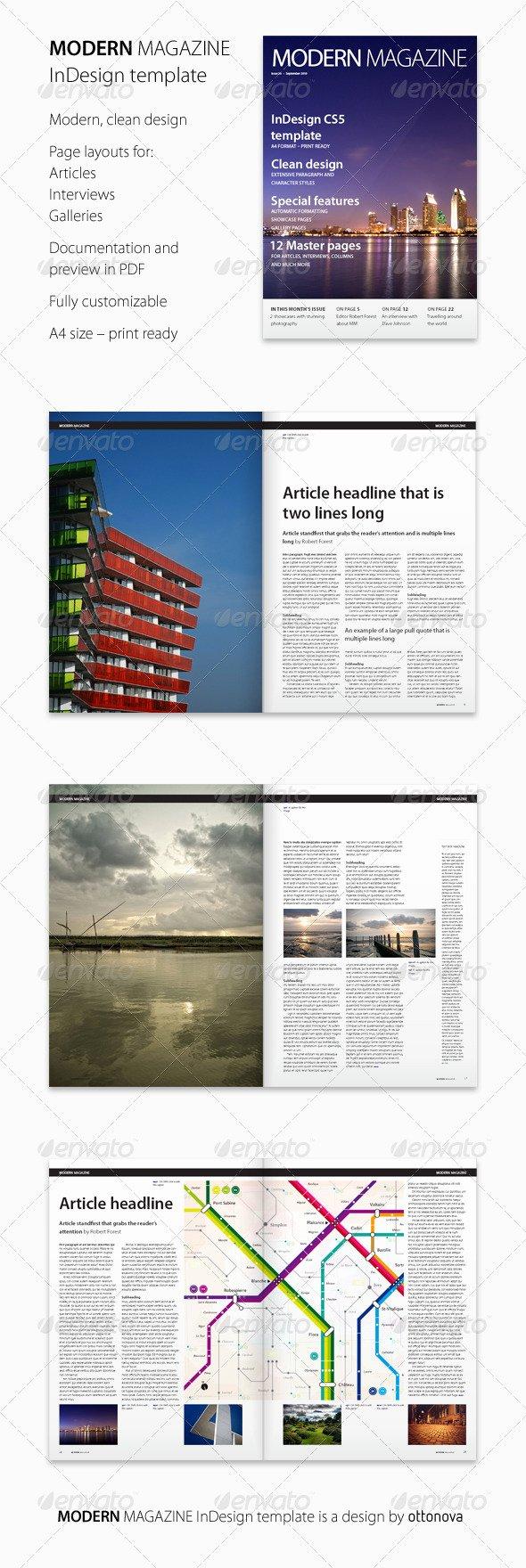 Modern Magazine Indesign Template