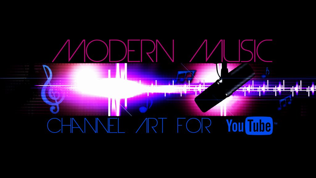 Modern Music Channel Art Template