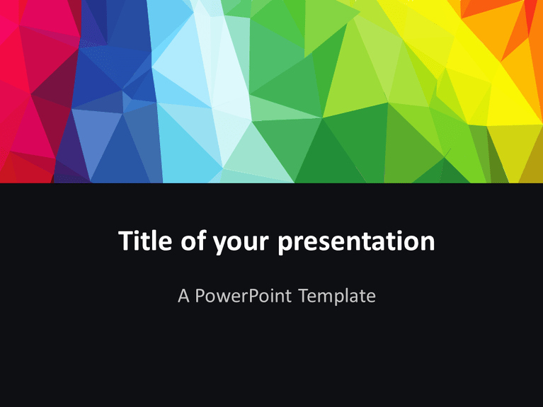 Modern Polygons Powerpoint Template Presentationgo
