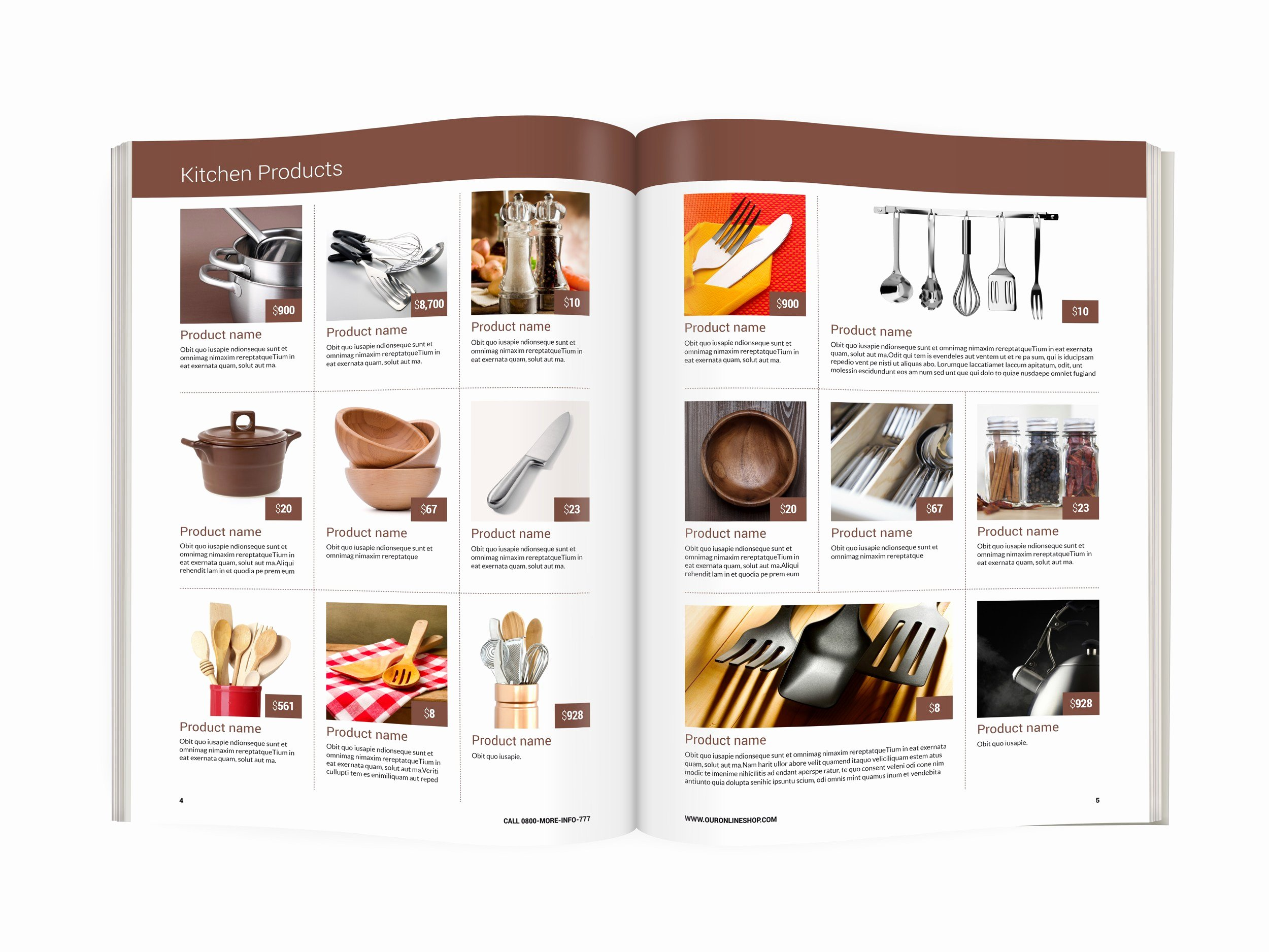 Modern Product Catalog Template A4 format Size Ready to