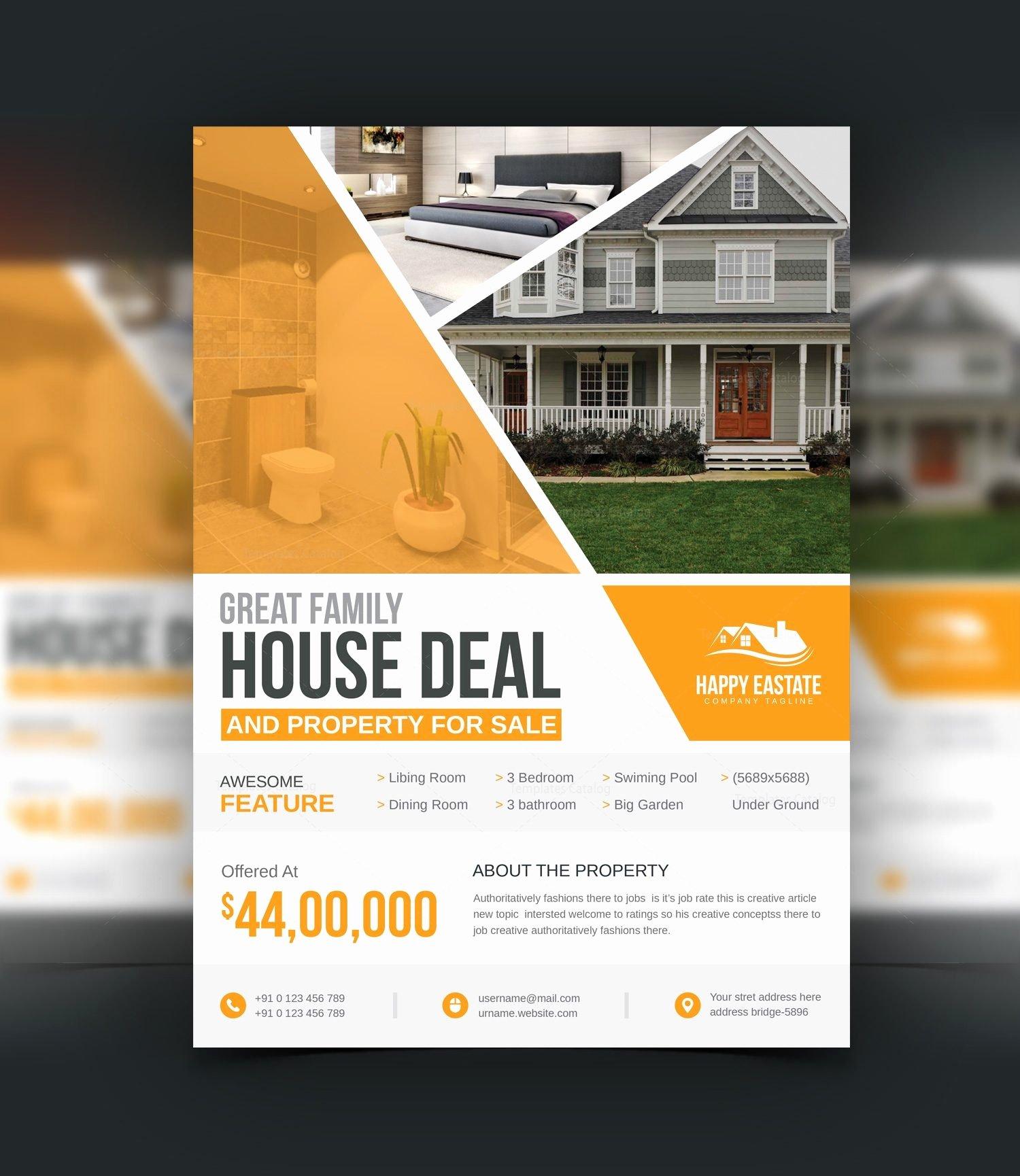Modern Professional Open House Flyer Template
