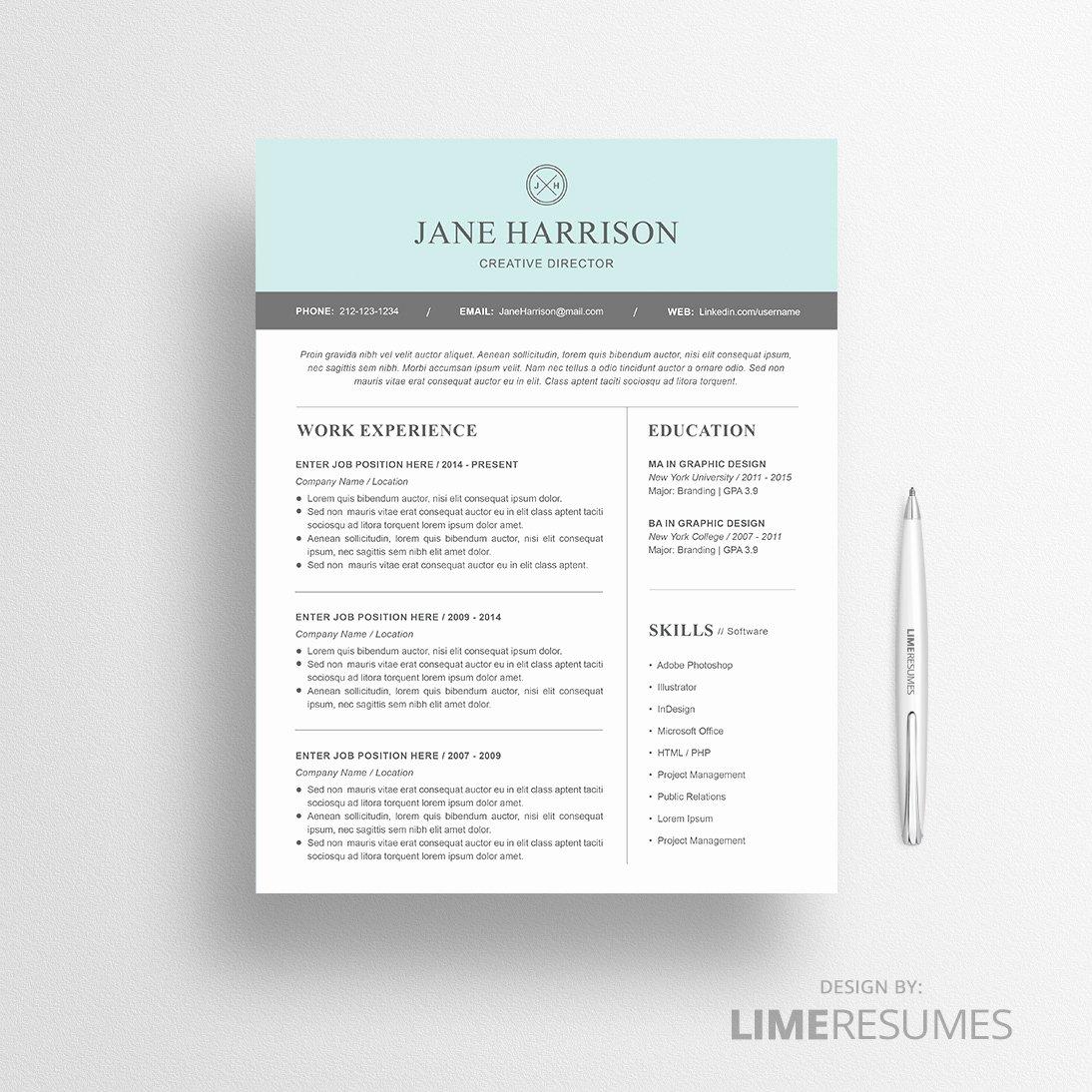 modern resume template 18