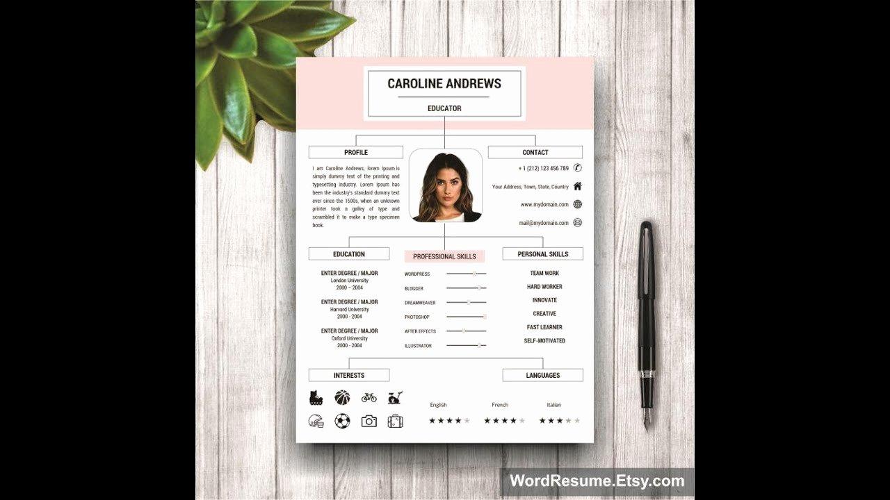 Modern Resume Template for Microsoft Word