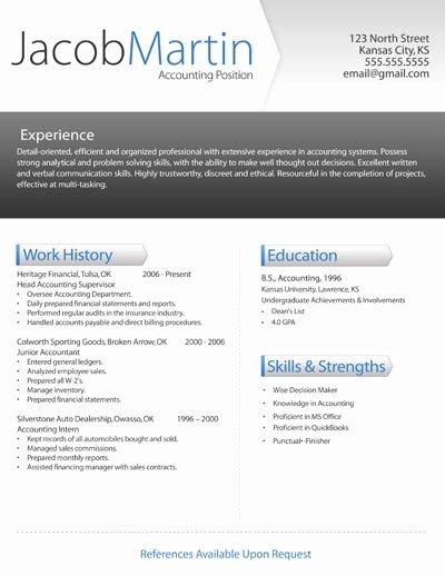 Modern Resume Template Free