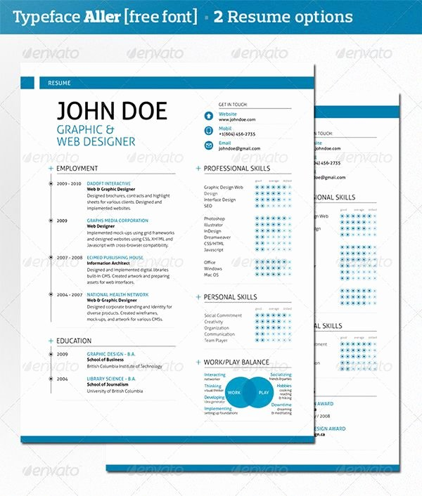 Modern Resume Template Template Resume Psd Design