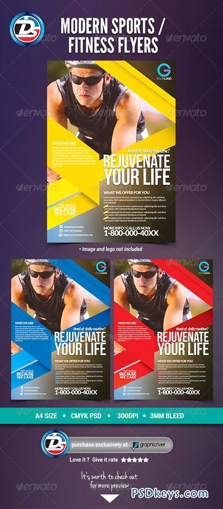 Modern Sports Fitness Flyers Free Download