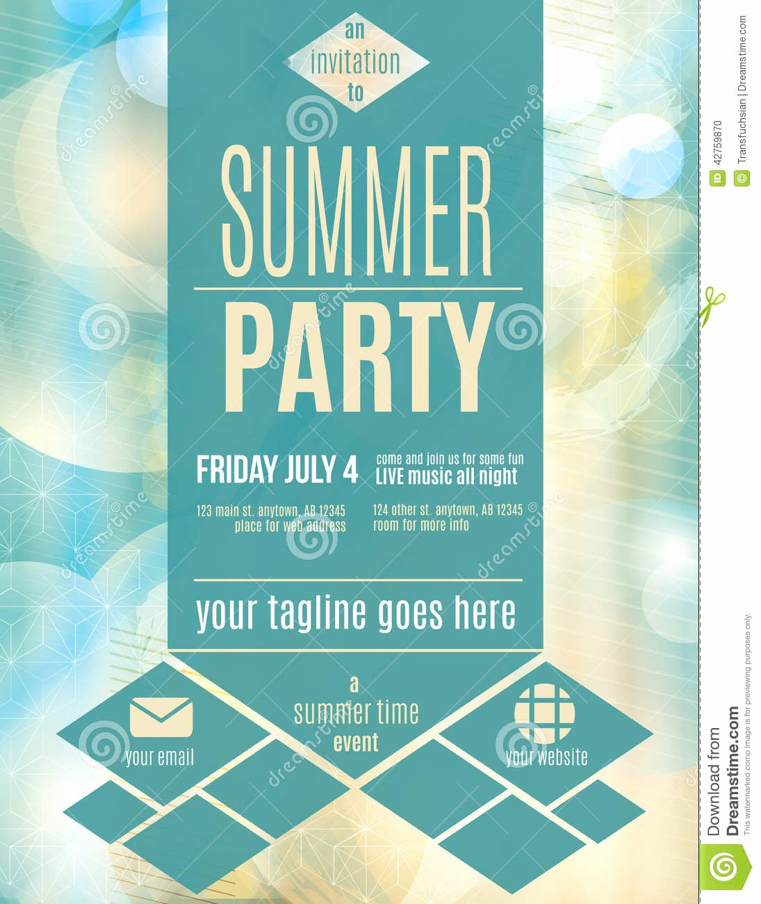 Modern Style Summer Party Flyer Template Download From Ov