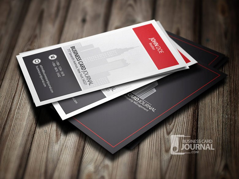 modern stylish real estate business card template
