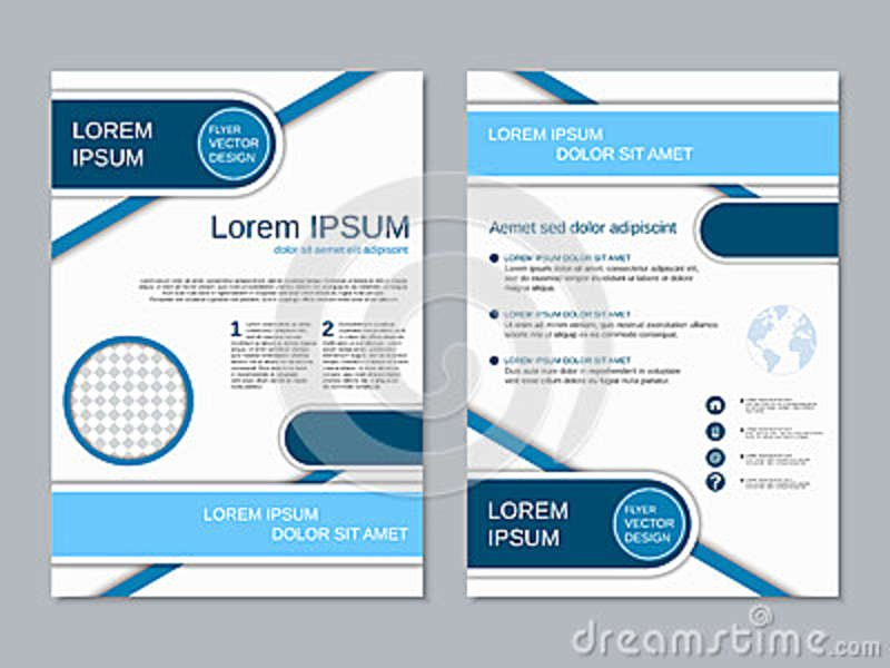 Modern Two Sided Flyer Vector Template Stock Vector