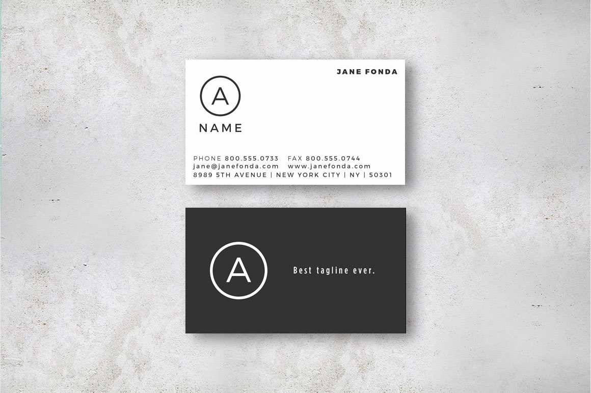 modern u s sized business cards indesign template