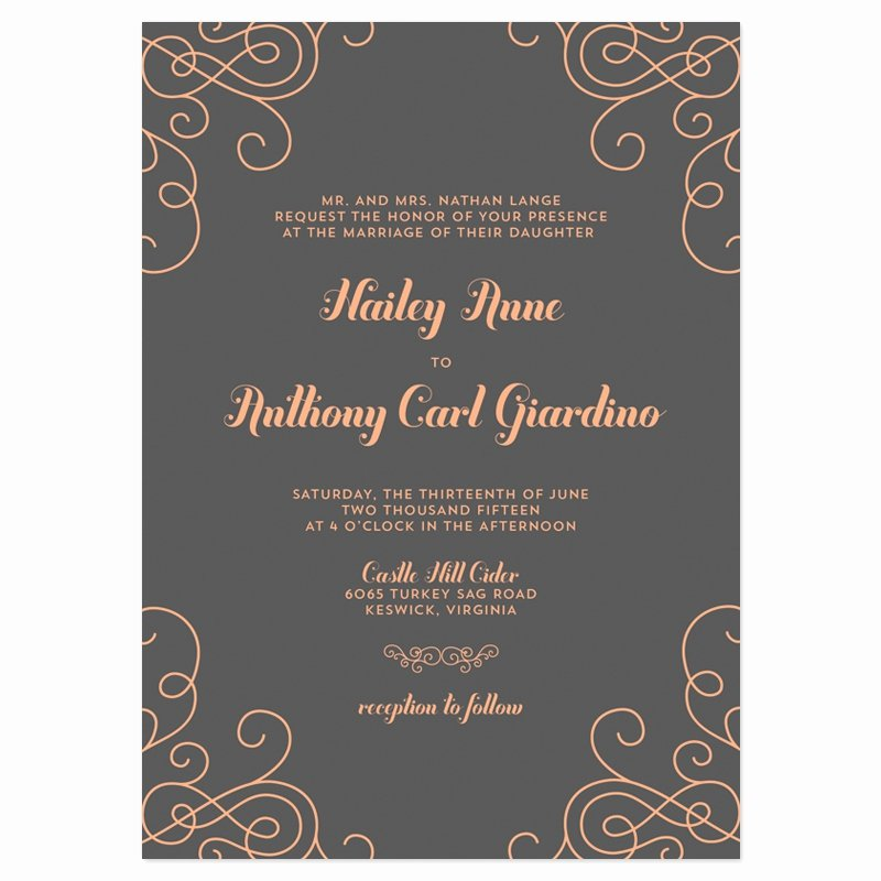 Modern Wedding Invitation Wording Modern Wedding