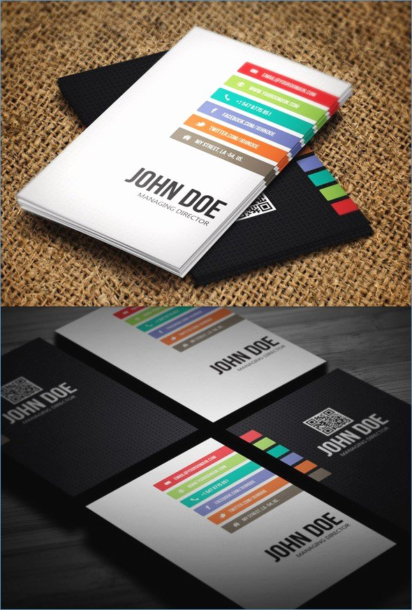 Moderns Business Card Template Illustrator Printer Modern