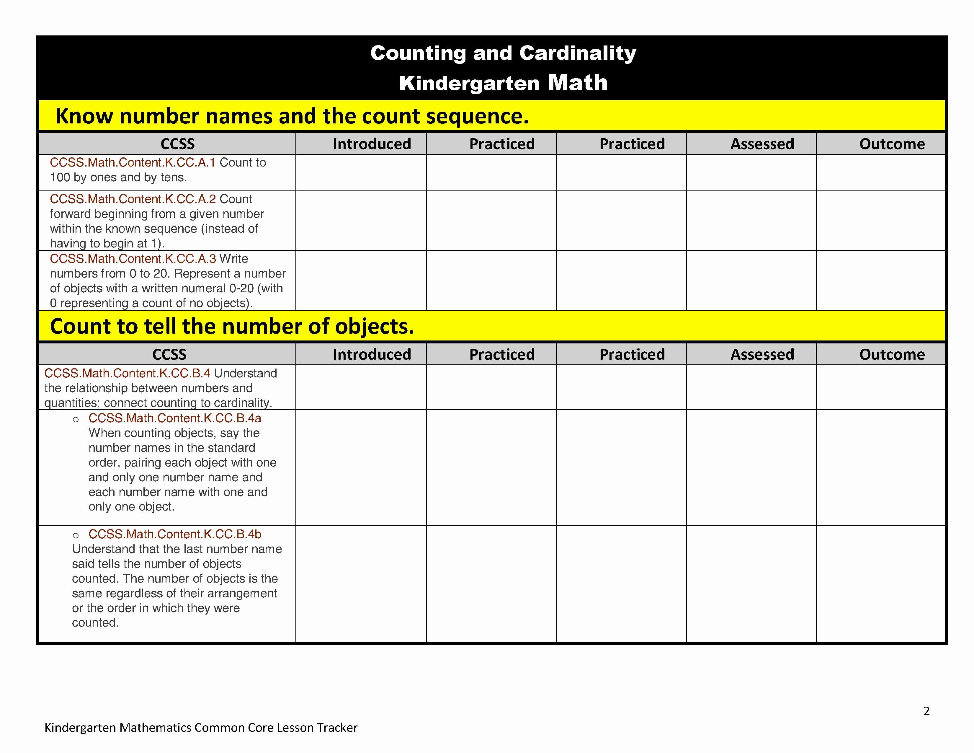Mon Core Lesson Plan organizers for Math and Ela