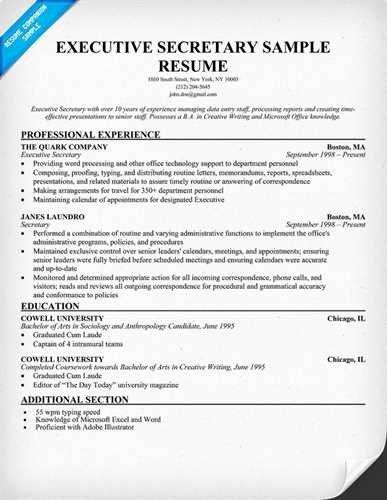 Mon Mistakes while Writing Executive Secretary Resume