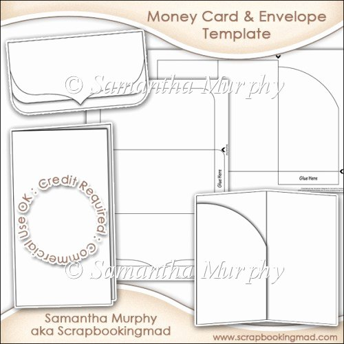 Money Gift Card & Envelope Template Mercial Use £3 50