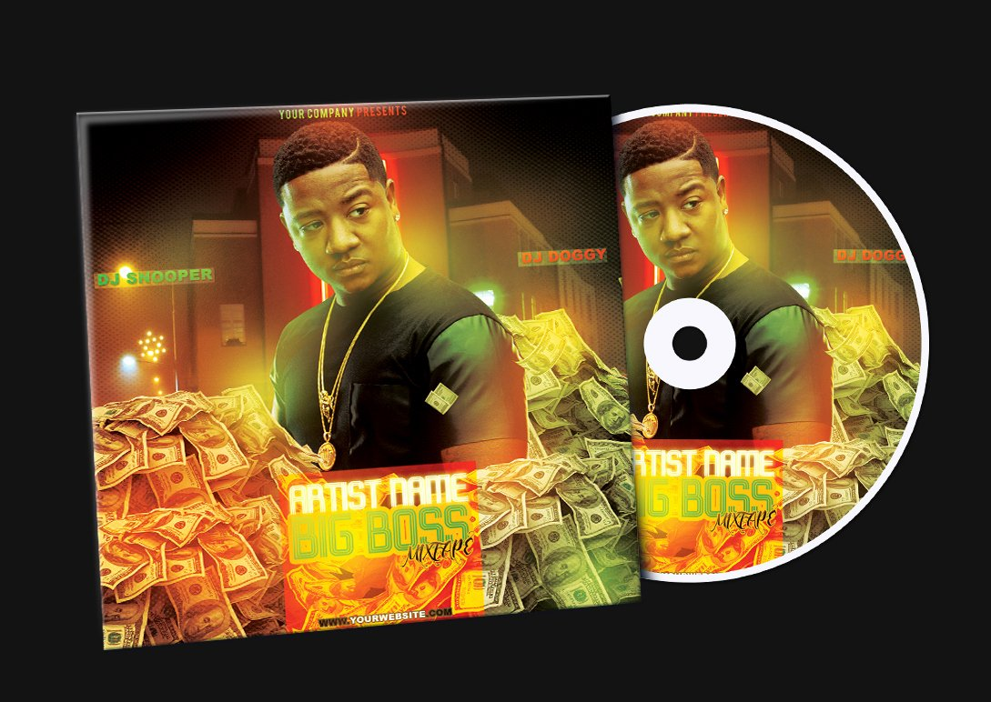 Money Mixtape Cd Cover Free Psd Template by Klarensm On