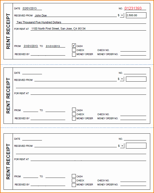 Money order Receipt Template 7 General Receipt Templates