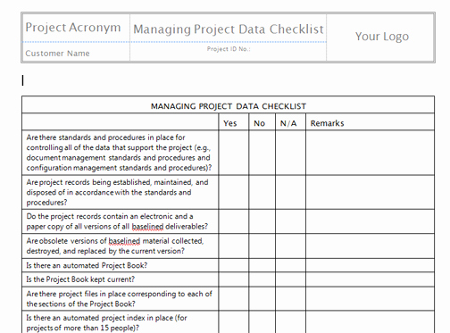 Monitor and Control Project Work Templates