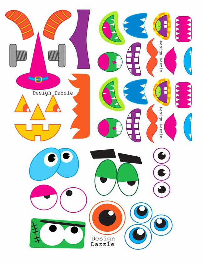Monster Face Halloween Goody Bags Free Printable