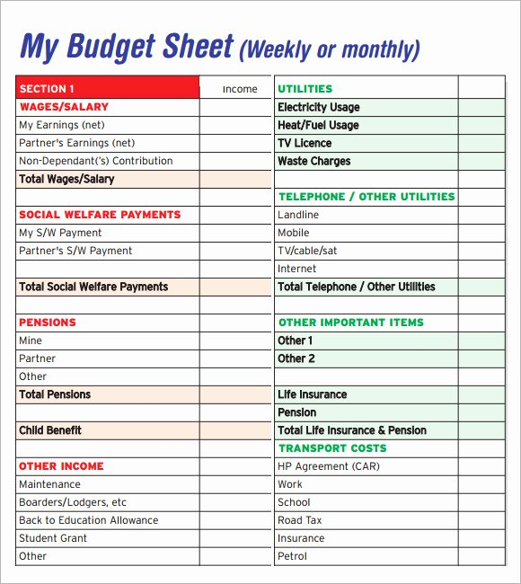 Monthly Bud Excel Template Uk Monthly Bud Excel