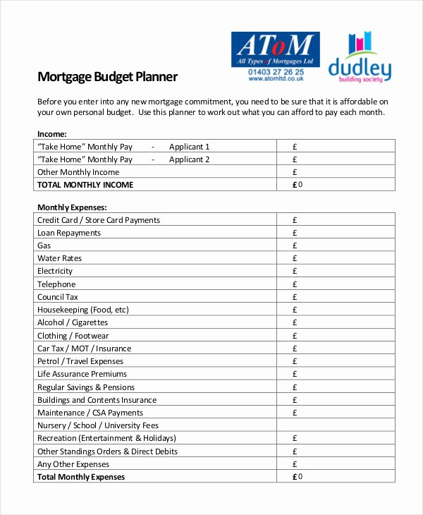Monthly Bud Planner Template 10 Free Excel Pdf