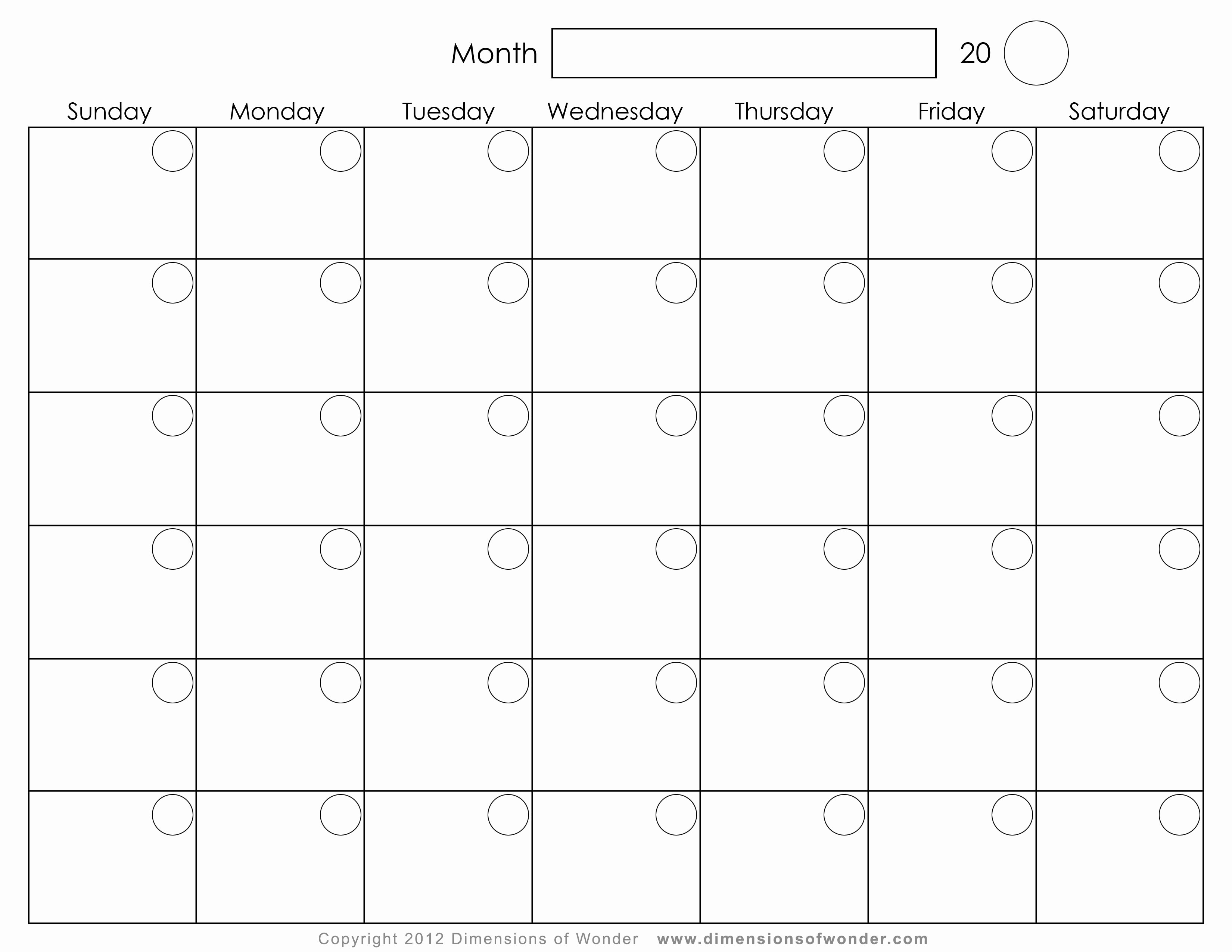Monthly Calendar Free Free Printable 2016