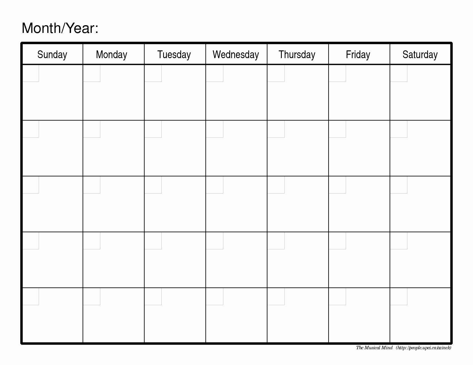 Monthly Calendar to Print – 2017 Printable Calendar