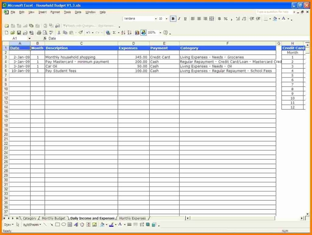 Monthly Expense Spreadsheet Template Spreadsheet Templates