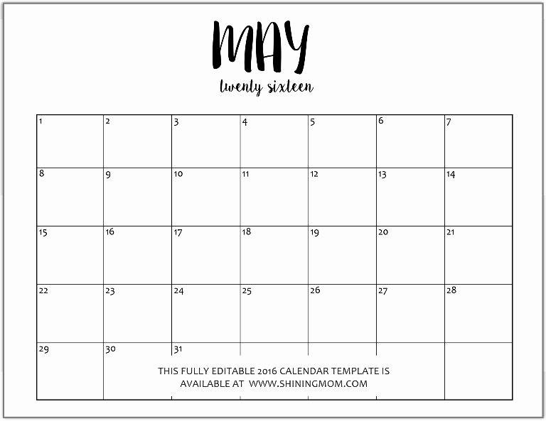Monthly Planner Calendar Template Printable Calendar 2015