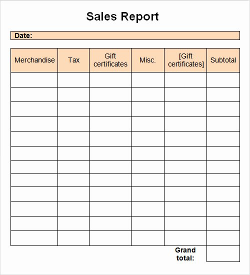 Monthly Sales Report Spreadsheet Vatansun