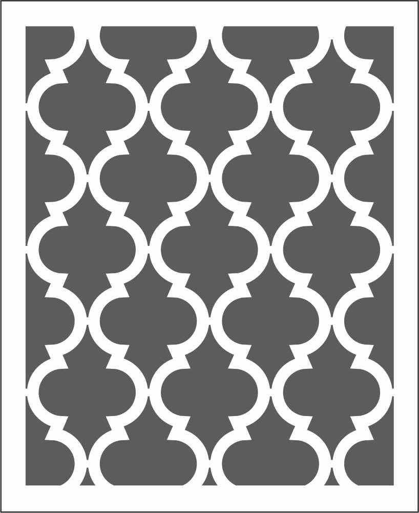 Moroccan Wall Stencil Pattern Choose Size Hole