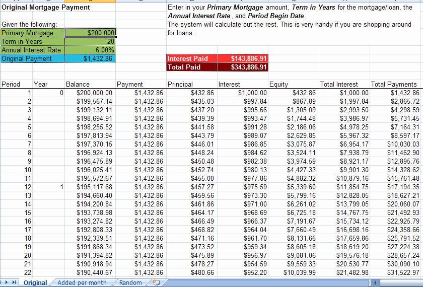 Mortgage Calculator Excel Dc Design