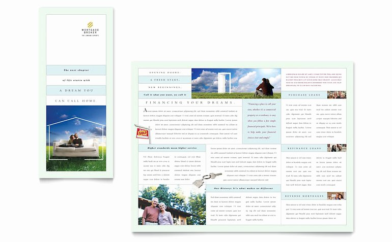Mortgage Lenders Tri Fold Brochure Template Word & Publisher