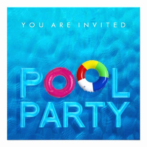Most Popular Pool Party Invitations