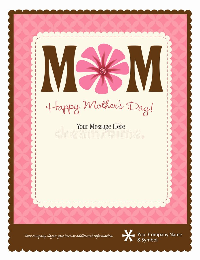Mother S Day Flyer Poster Template Stock Vector