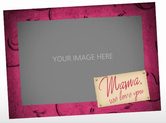 Mother S Day Picture Card Template